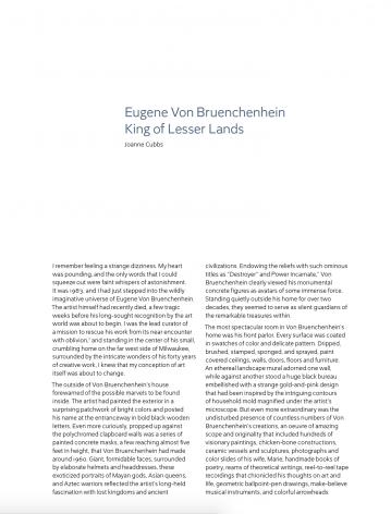 Eugene Von Bruenchenhein: King of Lesser Lands