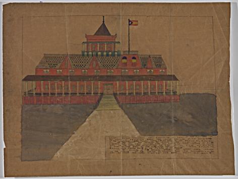 General Vivians Headquarters,n.d., Mixed media on paper