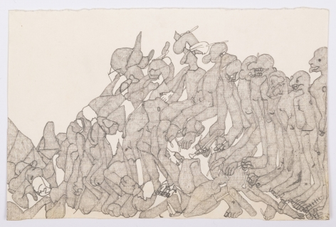 Untitled, c. 1976-1979, Graphite on paper