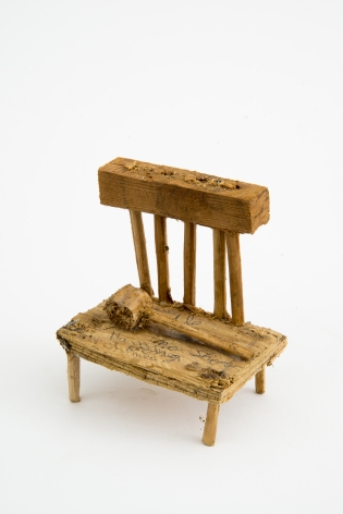 Untitled (chair), n.d. , Wood, glue, & sawdust