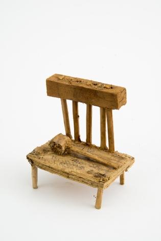 Untitled (chair), n.d., Wood, glue, & sawdust