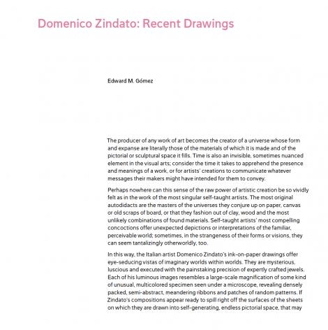 Domenico Zindato Recent Drawings