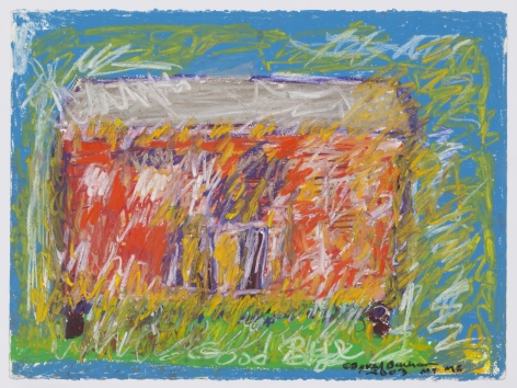 Untitled (Good Bye) , 2003, Oil pastel on paper
