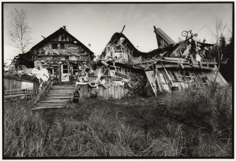 The Three Little PigsÂ' House, 2001, Silver gelatin print