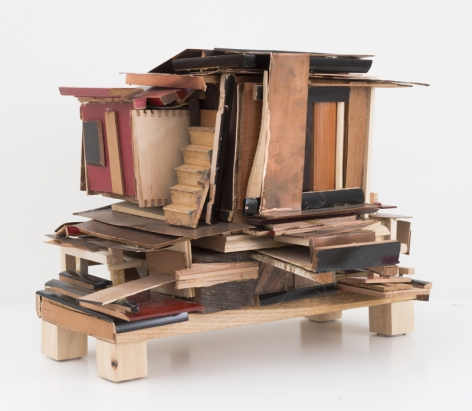 House from Scraps, 2011, Wood, copper
