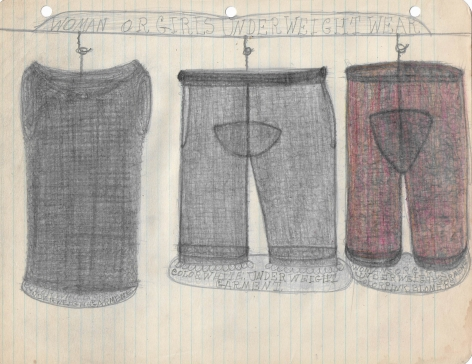 Pearl Blauvelt (1893-1987) Untitled (Woman or Girls Underweight Wear), n.d.