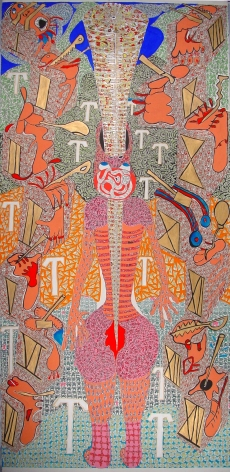 Holy Dismemberment,2006, Gouache on paper