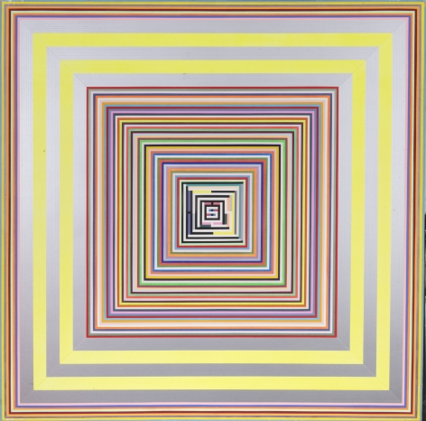 92 (h) 1, 1992, Acrylic on panel