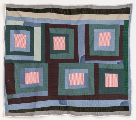 Allie Pettway (1916 - 2010), Housetop variation quilt