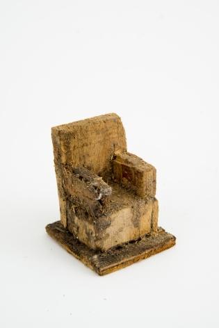 Untitled (chair), n.d., Wood, glue & sawdust