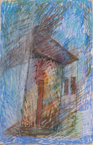 Untitled, 1986, Oil pastel on paper