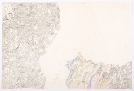 Untitled, 1975, Graphite and colored pencil on paper