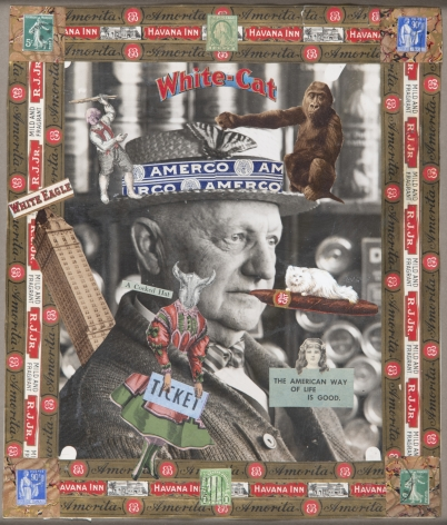 The American Way of Life is Good, c. 1920-50, Mixed media collage on photograph, double-sided