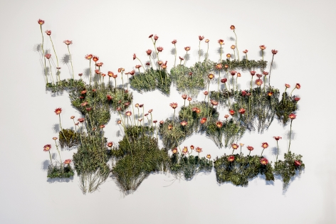 Harry Geffert (1934-2017), Momma's Flowers, Daddy's Weeds (wall), 2015