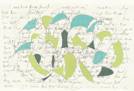 Richard Patterson, Freeze Drawing 4, 1988
