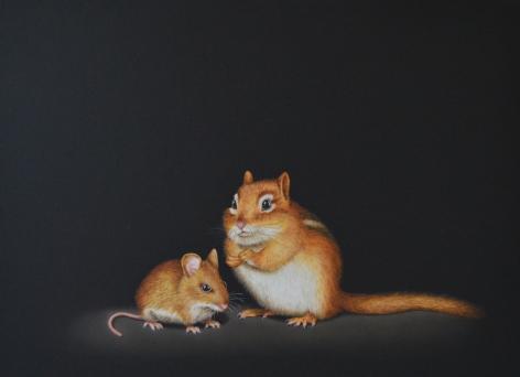 Isabelle du Toit, Chipmunk and Mouse, 2020