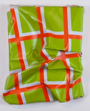 "Timothy Harding, 27"" x 20"" on 20"" x 15"" (green, orange, gray), 2015"
