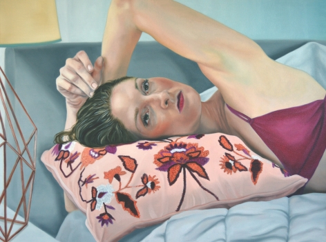 Kelli Vance, Self Portrait in a Bed No One Sleeps In, 2019