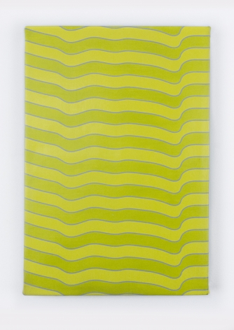 "Timothy Harding, 19"" x 13"" Yellow and Green, 2018"