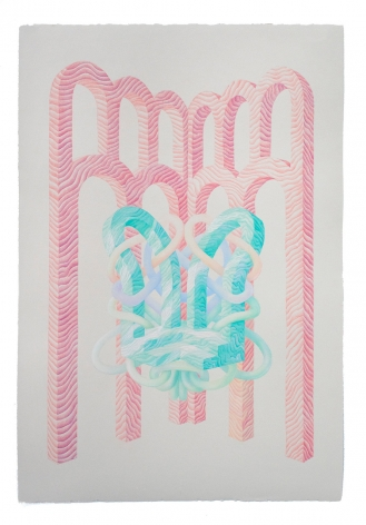 Lauren Clay, Wrapped double doorway with arches, 2020