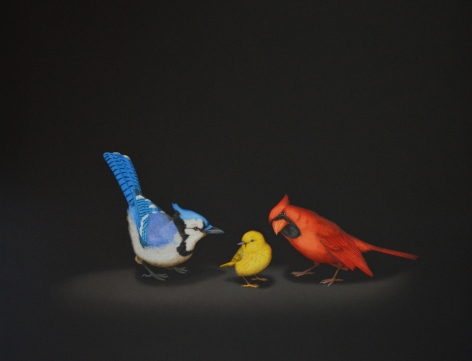 Isabelle du Toit, Blue, Yellow, Red, 2020