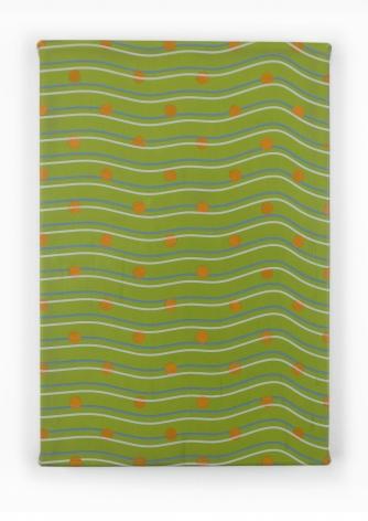 "Timothy Harding, 19"" x 13"" Orange Dots, 2018"