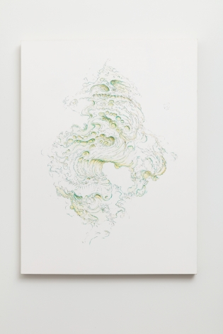 Becca Booker, Waterform Greens and Yellow, 2020