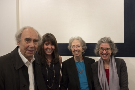 Irving Sandler, Loretta Howard, Julie Martin (Director of Experiments in Art and Technology), and Melissa Rachleff (Curator of Inventing Downtown)