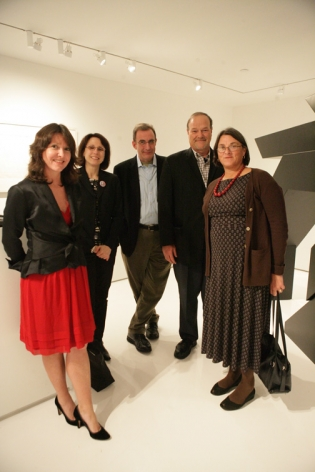 Loretta Howard, of Jacobson Howard Gallery; Marcia Vertrcoq, Editor of Art in America; Bruce Mundt, David Ebony, Critic and Editor of Art in America; and Jenny Dixon, Director of the Noguchi Museum