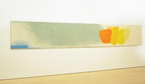 Friedel Dzubas mint orange yellow long painting