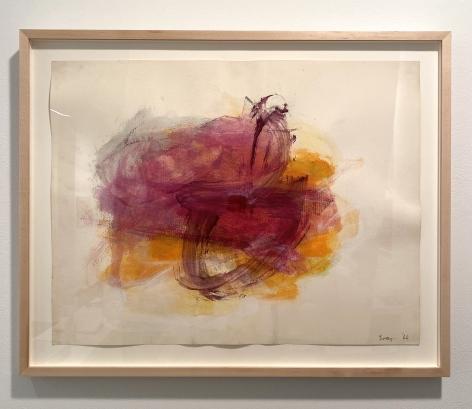 Reverse Drawing 2 (orange), 1966