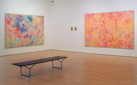 Shirley Goldfarb pink abstract paintings
