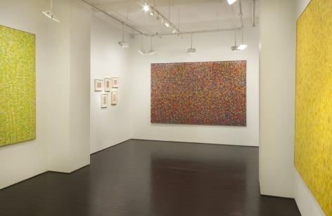 Shirley Goldfarb dot paintings