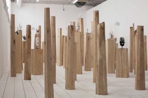 Installation view ofAmalgam, Palais de Tokyo, 2019. Photo: Jon Lowe. Courtesy White Cube.
