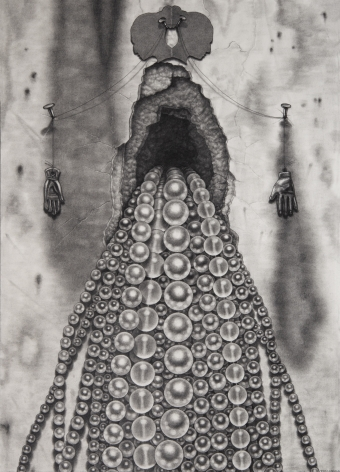 Maria Tomasula, Bequeath, 2019, graphite on Arches paper, 14 x 10 inches