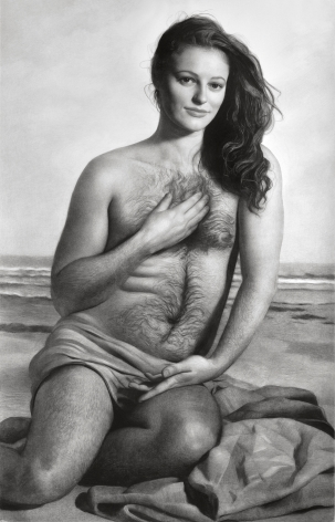 Clio Newton, Eden, 2019, compressed charcoal on paper, 91 x 58 inches