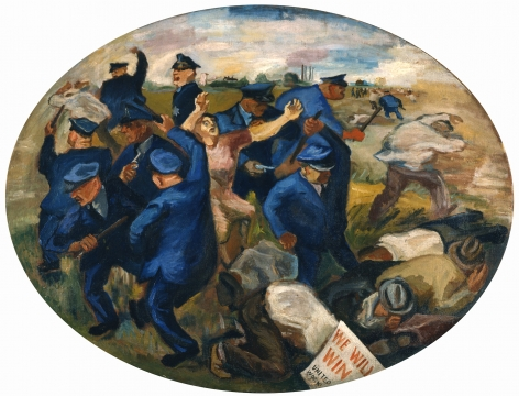 William Gropper, Little Steel, ca. 1938, oil on canvas, 33 3/4 x 44 1/2 inches
