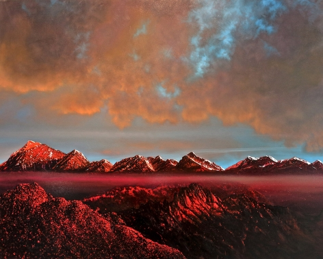 tula telfair, The Unfamiliar Truth, 2014, oil on canvas, 72 x 90 inches