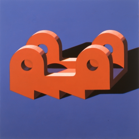 Robert Cottingham, Component IXX, 2005, gouache on paper, 5 1/2 x 5 1/2 inches