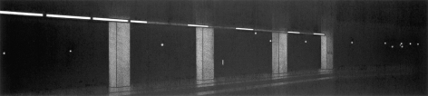anthony mitri, No. 188, Penn Station, NY, NY, 2006, charcoal on paper, 6 x 26 3/4 inches