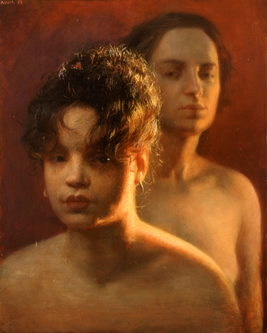 Steven Assael Pat and Candice, 1999, oil on panel, 14 x 11 inches