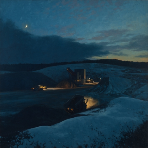 linden frederick, Quarry (SOLD), 2011, oil on linen, 35 x 35 inches