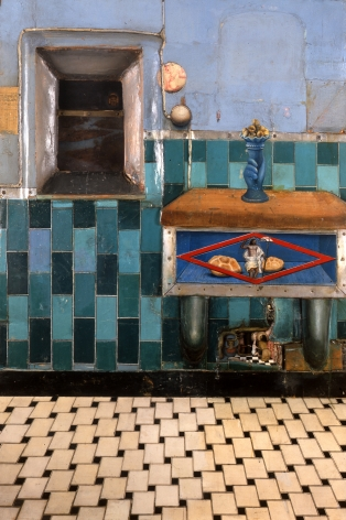 Gregory Gillespie, Bread Shrine (SOLD), 1969, mixed media on panel, 47 x 31 inches