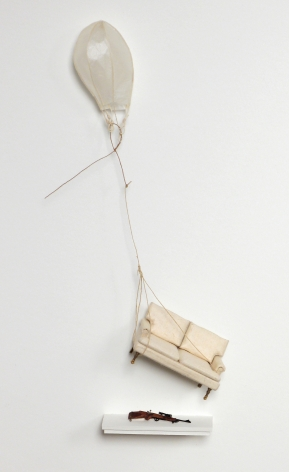 Cybèle Young, It Hadn't Occurred to Me, 2009, Japanese paper construction, 21 X 17 inches