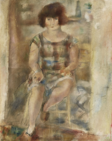 jules pascin, Lucy After Shampooing, 1926, oil on canvas, 36 1/4 x 28 3/4 inches