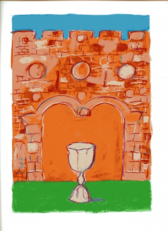 mark podwal, Elijah's Cup, 2011, acrylic, gouache and colored pencil on paper, 16 x 12 inches