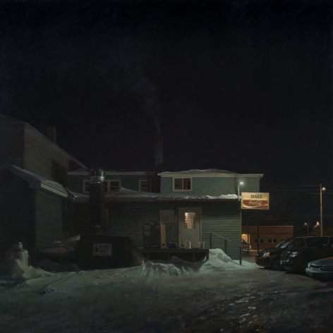linden frederick, Short Order (SOLD), 2013, oil on linen, 55 x 55 inches