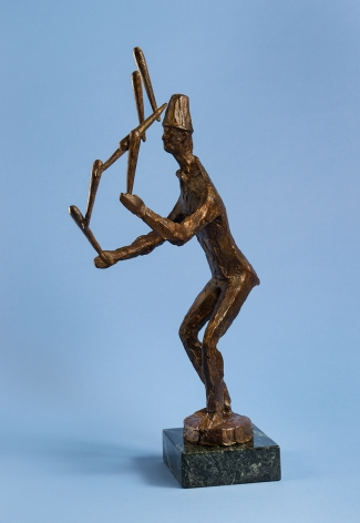chaim gross, Juggler with Tenpins, 1966, bronze, 22 1/2 x 9 x 12 inches
