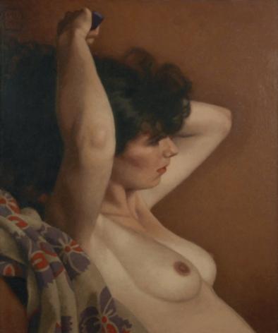 Michael Leonard, Cloud of Dark Hair, 2007, alkyd-oil on masonite, 19 x 16 inches