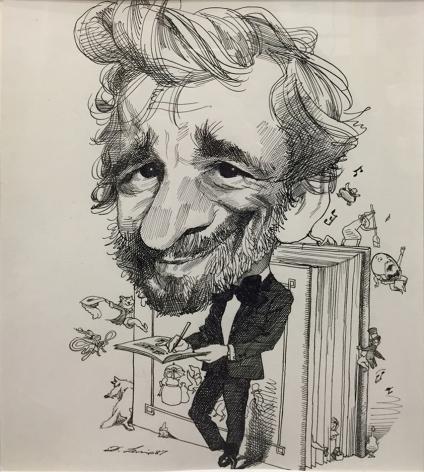 David Levine Stephen Sondheim, 1987, ink on paper, 14 x 11 inches